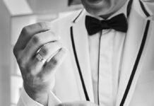 biały garnitur